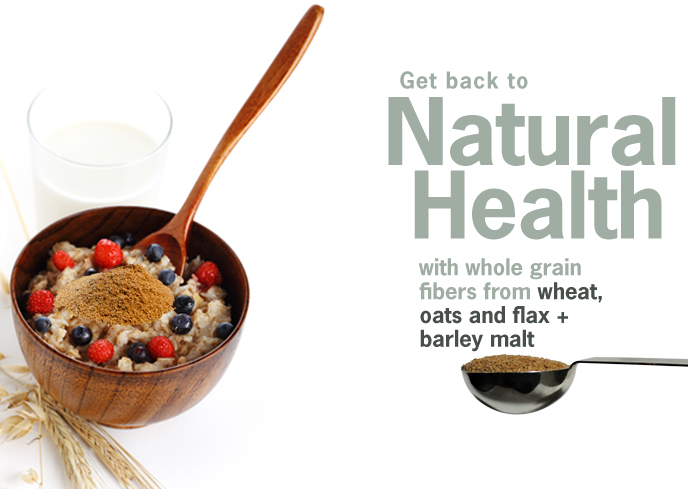 ProBiotein helps you get back to natural health with whole grain fibers from wheat, oats, flax and barley malt.