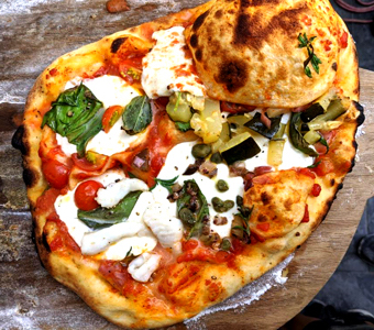 ProBiotein gives pizza dough a tangy sourdough taste.